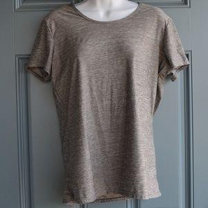Heather Grey Short Sleeve Scoop Neck Tee by 32*